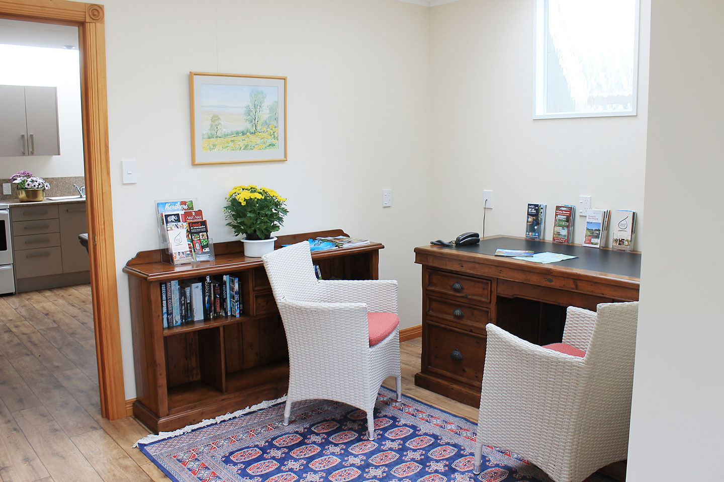 office at the carriage house kerikeri accommodation